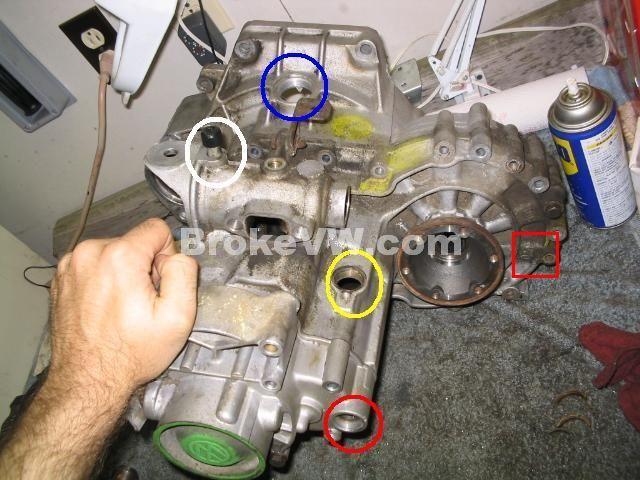 golf gearbox oil leak